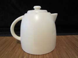 2012 Starbucks Pottery Ceramic Coffee Tea Pitcher 25 oz White - $15.99