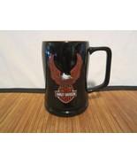 3D Harley Davidson Black Orange Embossed Raised Eagle Wings Biker Coffee... - $18.98