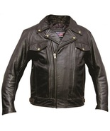Allstate Leather Men's vented riding jacket in black Buffalo Leather AL2020 - $159.00+