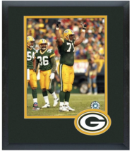 Santana Dotson Green Bay Packers Circa 1998-11 x14 Team Logo Matted/Framed Photo - $43.55
