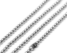 """26"""" Ball Chain Necklace White Gold Plated Stainless Steel  - $11.04"""