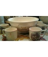 Tom & Jerry Two Fox Hunt Bowls & Five Cups - $49.77