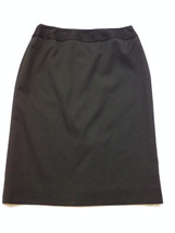"AK ANNE KLEIN Elements  Lined  Black Career SKIRT 27 x 23.5"" sz 2  EUC - $14.28"