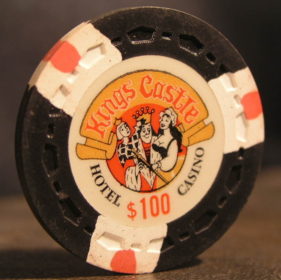 "Primary image for $100.00 Casino Chip From: ""The Kings Castle Hotel & Casino""- (sku#2969)"