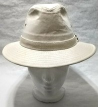 Dorfman Pacific Co. Men's Garment Washed Twill Safari Hat Beige Small, used image 2