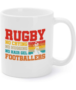 Rugby Gift - No Crying No Hugging Rugby Cool Gift Coffee Mug - $16.95