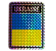 Wholesale Lot 6 Ukraine Country Flag Reflective Decal Bumper Sticker - $22.00