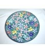 Arte Creta Hand Painted Floral Plate Made in Italy - $21.99