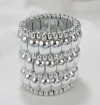 Oversized Beaded Stretch Cuff Bracelet - $15.59