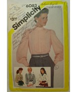 SIMPLICITY Pattern 6083 Misses' Pullover Blouse with Jabot Variations Si... - $4.44