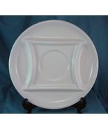 """Ceramic Divided Vegetable Platter Porcelain 12 1/2"""" Diameter Off White - $7.99"""