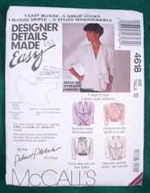 Sewing Pattern McCalls 4618 Misses' Blouse Size 12 CUT - $4.99