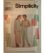 Simplicity Pattern 7970 Misses Size 10-14 Jacket Tops Pants & Skirt - $4.44