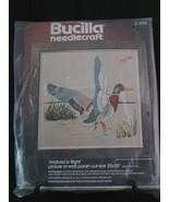 """Bucilla Needlecraft Mallard in Flight Crewel Yarn Kit 3331 NIP 26"""" x 26"""" - $9.95"""