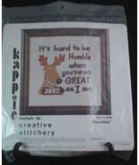 Kappie Originals Humble Needle Craft Wall Panel Kit Creative Stitchery 1... - $13.98