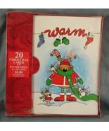 Boxed Christmas Cards Warm Reindeer & Friends 20 Cards & Envelopes NIB - $7.99