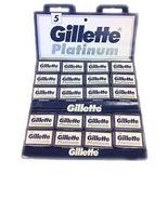 50 Gillette Platinum Double Edge Blades For Safety Razor - $15.50