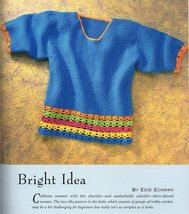 Crochet Sweaters Simple Stitches, Great Designs Susan Huxley Tokyo Vest,... - $7.95