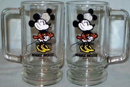 Disney Glass Mug 2 Images of Minnie Mouse - $6.50