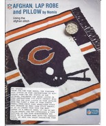 RARE~Nomis~30~NFL Crochet Afghan~Lap Robe & Pillow Patterns Leaflet~HARD TO FIND - $55.99