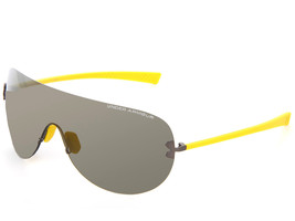 Under Armour UA Split Shield Mens Sunglasses Satin Gunmetal Yellow Grey ... - $79.48