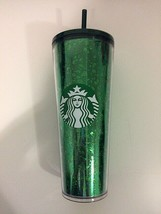 Starbucks Glitter Green Acrylic Cold Cup Tumbler - HOLIDAY 2019 - $28.71