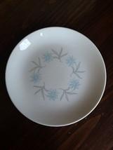 "Homer Laughlin Blue Star FLower dinner plate 9 1/4"" Dura Print Made in USA EUC - $5.89"