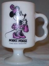 Disney Milk Glass Mug Minnie Mouse - $6.50