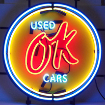 Neonetics Chevy vintage ok used cars neon sign - $345.00