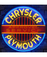 Neonetics Chrysler plymouth neon sign with backing - $343.85