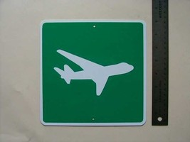 Metal Mini  Airport  Traffic Signs  Miniature  Sign - $4.95