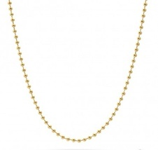 "Gold Plated Ball Chain Necklace Stainless Steel 24"" - £8.39 GBP"