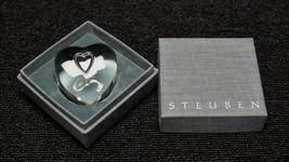 Steuben Glass paperweight Heart to Heart - $142.50