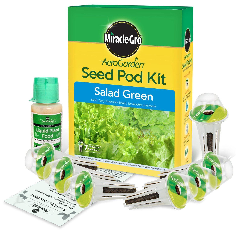 New Aerogarden Indoor Garden Miracle Gro Gourmet Salad 7 Single Pod Seed Kit