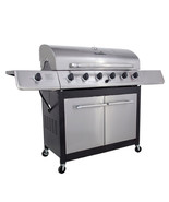New Stainless Char-Broil 6 Burner Gas Grill Side Burner 65000 BTU BBQ Fo... - £409.29 GBP