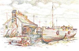"""Akimova: TAVERN, seascape, 9.5""""x6"""" - $10.00"""
