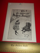 Home Treasure Ad Pears Soap Care Advertising Collectible 1899 Black Amer... - $9.49