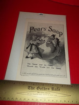 Home Paper Decor Ad Pears Soap Care Advertising... - $9.49