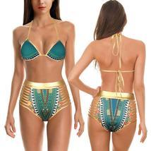 Women's Push Up Padded High Waist Ethnic Print Bikini Swimwear Set image 7