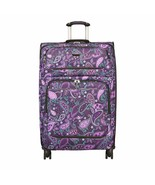 Beverly Hills Mar Vista 4 Wheel Expandable Upright Spinner Travel Purple... - $239.88