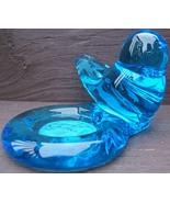 SUNNY DAY BLUEBIRD Art Glass VOTIVE CANDLE HOLDER Ron Ray 1998 ORIGINAL ... - $89.99