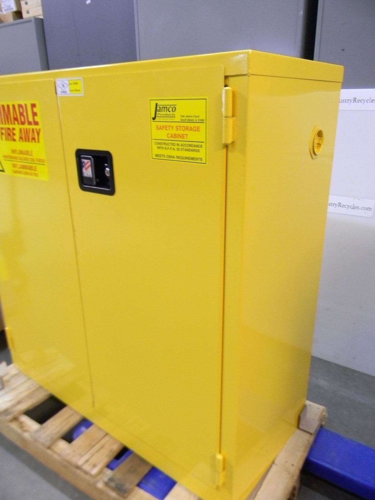 Jamco BM30 30 Gal Yellow Safety Flammable Cabinet 43 X