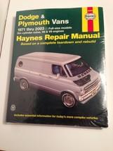 NEW Dodge and Plymouth Vans 1971-2003 Automotive Repair Manual Haynes 10... - $19.34