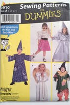 Simplicity 9910, Childs Costumes, Princess, Angel, Wizard, Size 3, 4, 5,... - $4.95
