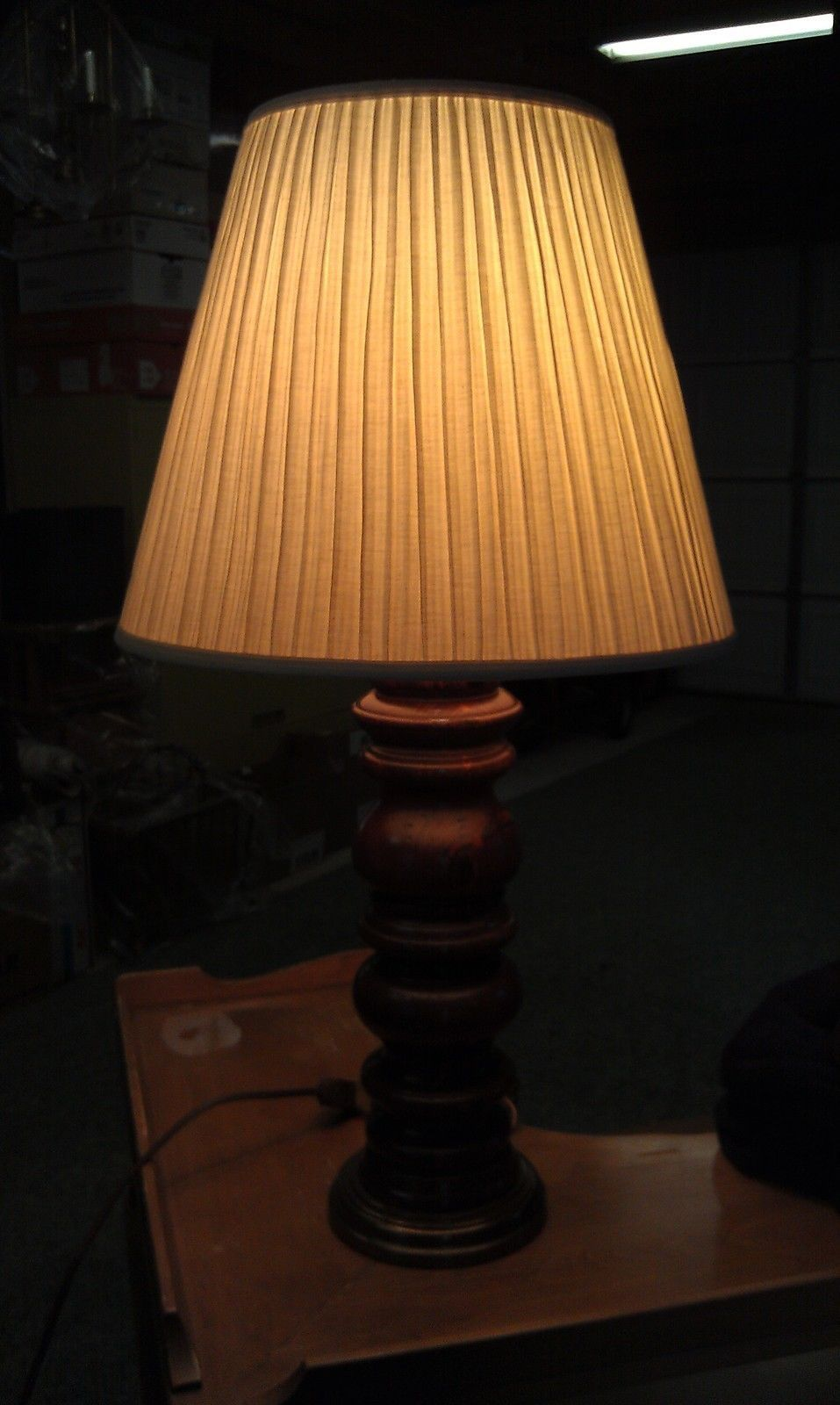 Colonial Table Lamps : C vtg quot tall ethan allen wood brass colonial table
