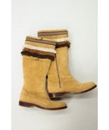 UGG Tan Brown Fringe Tall Suede Indian Western ... - $165.00