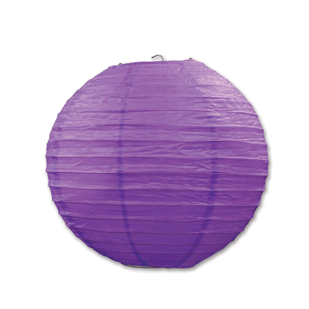 "Beistle Paper Lanterns Purple 9.5"" (3 Count)- Pack of 6"