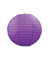 """Beistle Paper Lanterns Purple 9.5"""" (3 Count)- Pack of 6 - $47.68"""