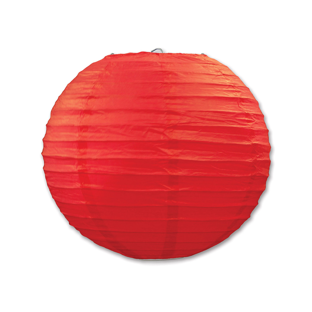 "Beistle Paper Lanterns Red 9.5"" (3 Count)- Pack of 6"