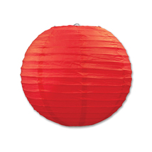 "Beistle Paper Lanterns Red 9.5"" (3 Count)- Pack of 6 - €42,32 EUR"